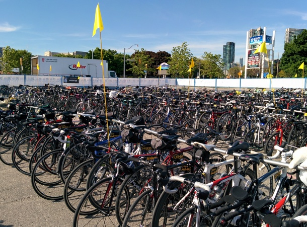 Other bikes at the drop-off zone