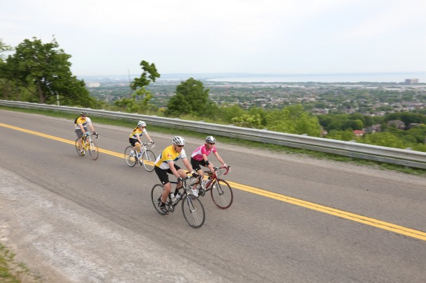 There was some beautiful scenaryy throughout the 2 day ride. I didn't stop to take any pictures, but here's an example of the view from the escarpment on Day 2 in Hamilton.